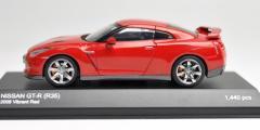 京商●1/43 ダイキャストモデルカー【ニッサン GT-R(R35) 2008 バイブラントレッド】K03741R★特価