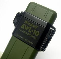 送料140円〜超軽量30g!AWL10(アウール)ターボガスライター(ミリタリーグリーン)ターボライターを発明したWindmill社製 耐強風 再注入式
