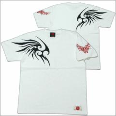 【NEW】【1】和柄Tシャツ「トライバル 翼」