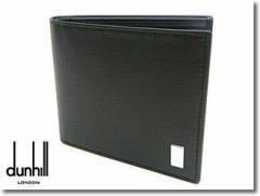 DUNHILL ダンヒル 二つ折り財布 サイドカー SIDE CAR QD3070 ブラック☆送料無料!