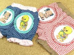 【2012夏新作】【patogato】バルーンショートパンツ/レッド・ネイビー☆アヒル&ゾウ