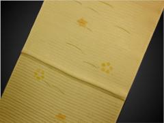 単衣・夏着物に♪小粋色の夏(絽)帯揚げ帯上げ薄橙色桔梗小花