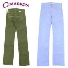 [アウトレット特価☆80%OFF] シマロン SINDY ストレッチ ストレート カラー パンツ (CIMARRON WENDY ジーンズ ジーパン デニムパンツ)