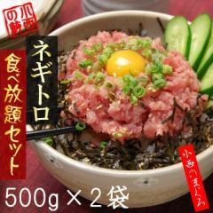 【送料無料】ネギトロ食べ放題(500g×2袋/1kg)ネギトロ丼10杯分【まぐろ・マグロ・鮪・ねぎとろ】