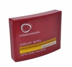 ジュエリーワイプス MS001 貴金属クリーナー 25枚入り ティッシュ感覚でアクセのお手入れ ジュエリー用磨き布