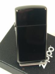 真っ黒 ジッポースリムZippoエボニー(黒漆)Ebony プレーン#28123新品ジッポー