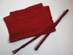 単衣・夏物着物に 絽(夏用)の正絹帯締め帯揚げセットエンジ