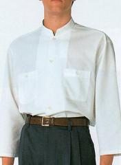 オリエンタルな 【マオカラーシャツ】 7分袖 男性用