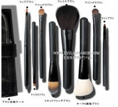 化粧ブラシセット、メイクブラシセット お洒落な専用収納ケース付き8本セット STZ-0801