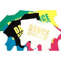 原宿・竹下っ仔の必須アイテム!!DANCE ACDC Tシャツ /子供 キッズ ダンス ウェア 衣装 ヒップホップ