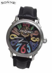 ゾンネ 時計 腕時計 S150RB マルチカラー/ブラック SONNE 自動巻き リストウォッチ