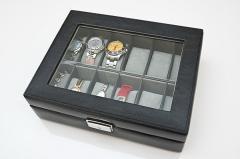 【送料無料!ポイント2%】大切な時計を見せながら収納!ウォッチケース12本用 2色