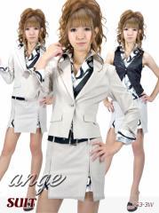 S1210-506/【送料無料】キャバスーツ/ベストプリントシャツ付きスーツ