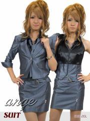 S1209-501/キャバスーツ/背中リボンセクシースーツ