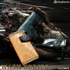 《送料無料》 AXE アックス キーケースウォレット メンズ 本革 ウォッシュシリーズ【No.136651】