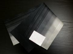 浴衣ゆかた&袴に 小粋な銀ラメ入グラデーションぼかし半巾帯半幅帯黒