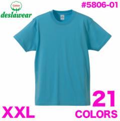 最安値☆4.0オンスTシャツ#5806-01 deslawear デラウェア 大きいサイズ XXL 無地 sst-c