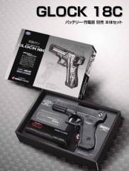東京マルイ GLOCK 18C 本体セット (バッテリー・充電器別売) 【特典付き:ハンドガンケース】