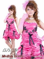 MD1208-306/キャバドレス/薔薇くしゅ姫ショートドレス