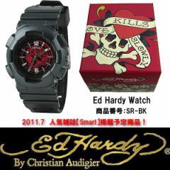 送料無料☆エドハーディー 腕時計 ED HARDY Watch STRIKERシリーズ SR-BK Smart 7月号掲載商品