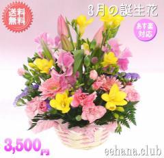 ポイント5倍!3月誕生花★ピンクアレンジ3,500円【送料無料】ネット特価!