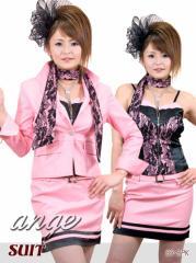 S1207-101/キャバスーツ/レーススカーフ付きスーツ