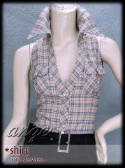 ST1207-811/ チェックプリントシャツ