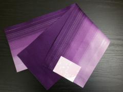 浴衣ゆかた&袴に 小粋な銀ラメ入グラデーションぼかし半巾帯半幅帯紫
