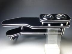 【売り切り! お買い得】T31エクストレイルフロントテーブル ブラック BKxシルバー