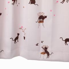 カーテン 遮光 猫柄 ピンク 幅100cm×丈110cm2枚 遮光カーテン