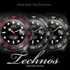 TECHNOS テクノス ブラック・ダイバー 限定モデル メンズ 腕時計 T2171