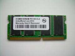 SODIMM 512MB PC133 144pin CL3 PCメモリー 「メール便可」