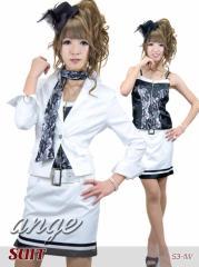 S1207-103/キャバスーツ/レーススカーフ付きスーツ
