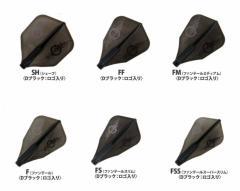FIT×零-ZERO- J.Dロゴ入り ブラック フィットフライト×ジョーカードライバー Fit Flight×JOKER DRIVER ダーツフライト