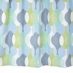 北欧カーテン 幾何学柄 ブルー 幅100cm×丈110cm2枚 遮光カーテン md0144 taste03