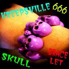 KREEPSVILLE666 スカルコレクション 恐怖のスカルブレスレット