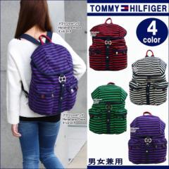 トミーヒルフィガー バッグ リュック TC960QL3 Rugby ボーダー デイバッグ メンズ レディース TOMMY HILFIGER ag-594300