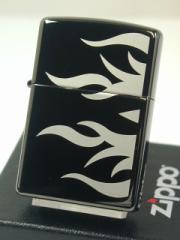 ジッポー黒Zippoエボニー(黒漆)Tattoo Flame Ebony#24951