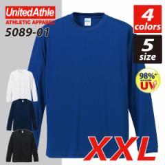 4.7オンスドライシルキータッチロングスリーブTシャツ (ローブリード)(XXL)#5089-01 長袖 無地 lst-d