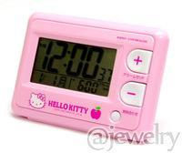 ◆ハローキティ 電波目覚まし時計【ジャストウェーブ】8RZ095RH13