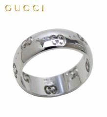 グッチ リング 指輪 18金 ホワイトゴールド アイコンリング 246470-J8500-9000 GUCCI グッチ 指輪
