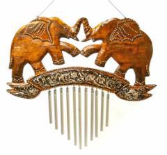 【象さん】スチール製のドアチャイム アジアン雑貨 バリ雑貨 風鈴