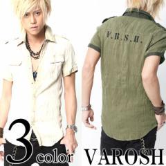 【即納】VAROSH(ヴァロッシュ)ウォッシュ半袖ミリタリーシャツ