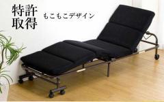 送料無料!リクライニングベッド 折りたたみベッド モコモコ コンパクト 幅60cm 【激安】 SA562
