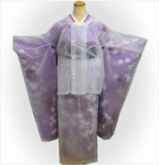振袖成人式の雨の日も安心 簡単二部式レインコート(雨コート)