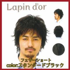 【Lapin dor】 ラパンドアール メンズウィッグ フェザーショート スタンダードブラック 5660