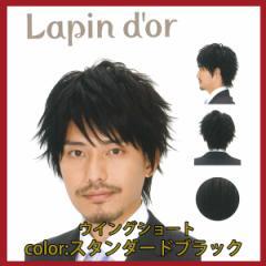 【Lapin dor】 ラパンドアール メンズウィッグ ウイングショート スタンダードブラック 5765