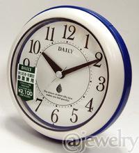 ◆バスクロック[リズム時計]*防水防塵*掛置兼用時計【アクアパーク】ブルー 4KG711DA04/4KG711DN04