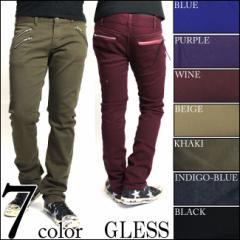 GLESS(グレス)Wジップポケットスキニーパンツ/メンズ/mens/ボトムス/パンツ