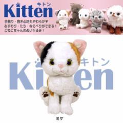 【人気ネコたち大集合!】 Kitten キトン ぬいぐるみ Sサイズ ミケ P7571 猫 ネコ ねこ CAT 雑貨 サンレモン